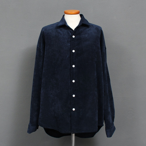Wide Shoulder Minimal Corduroy Shirt