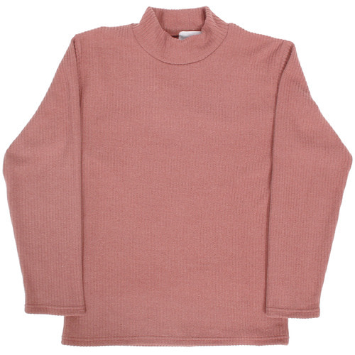 Half Neck Corduroy Pattern Fleece Tee