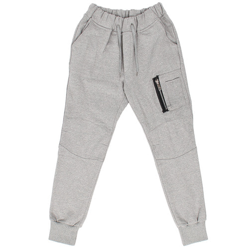 Slim Fit Zipper Pocket Fleece Jogger Pants