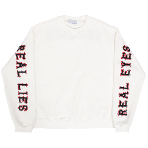 Loose Fit Logo Stitched Fleece Sweatshirt