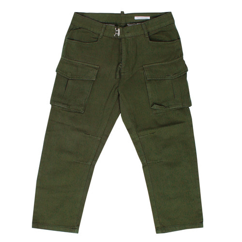 Big Cargo Pocket Reinforced Back Baggy 4/5 Pants