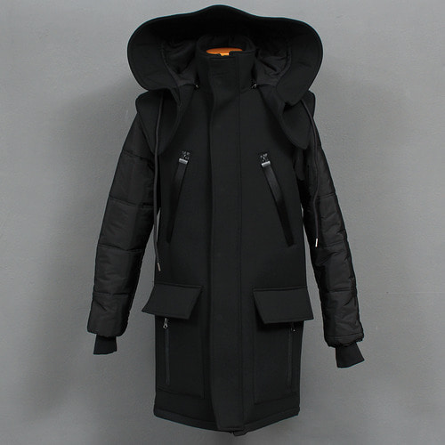 Removable Big Hood Neoprene Jacket Parka
