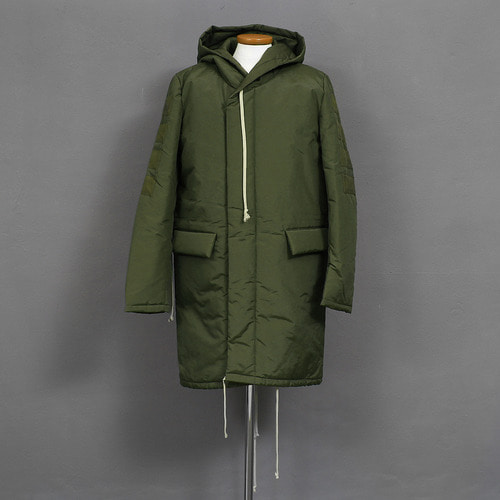 Avant garde Light Weight Puffa Hood Long Parka
