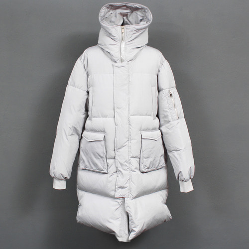 Standard Fit Duck Down Hood Long Puffa Parka