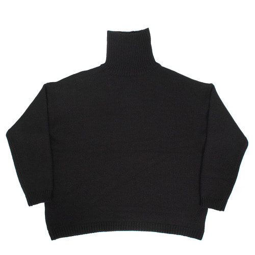 High Neck Big Over Loose Fit Boxy Knit Jumper