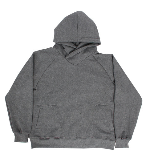 Loose Fit Crossed Neck Interior Fleece Boxy Hoodie