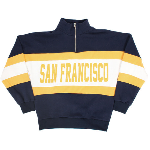 San Francisco Logo Printing Zip Up Anorak Sweatshirt