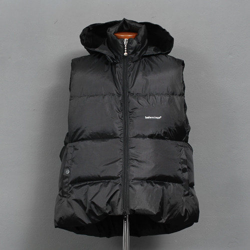 Stowaway Hood Duck Down Puffa Zip Up Vest