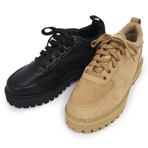 Low Top Lace Up Hard Sole Suede Leather Shoes