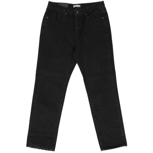 Black Denim Wide Pants 2200