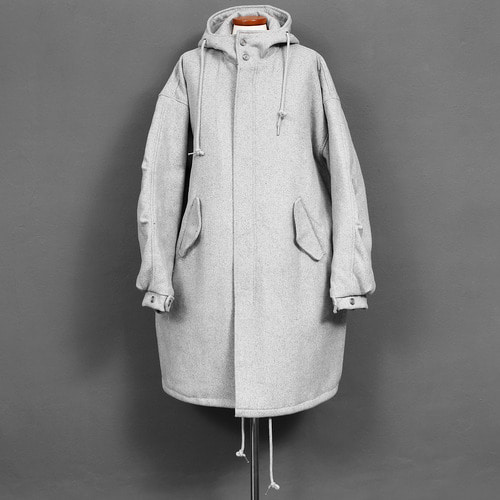 Over Sized Loose Fit Wool Long Hooded Coat