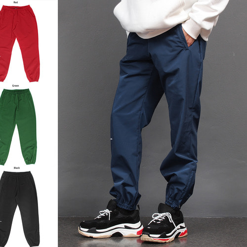 Zippered Hem Water Repellent Jersey Jogger Pants
