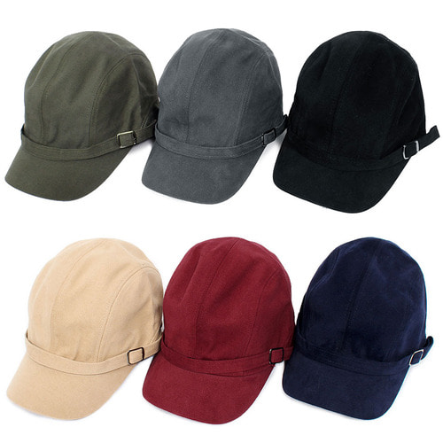 6 Color Front Buckle Strap Cap
