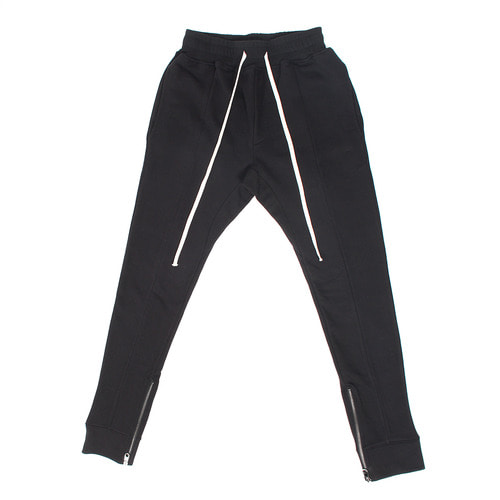 Slim Fit Side Zippered Hem Long Strap Sweatpants
