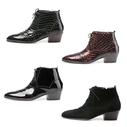 Shirring Styling High Heel Ankle Boots 5045