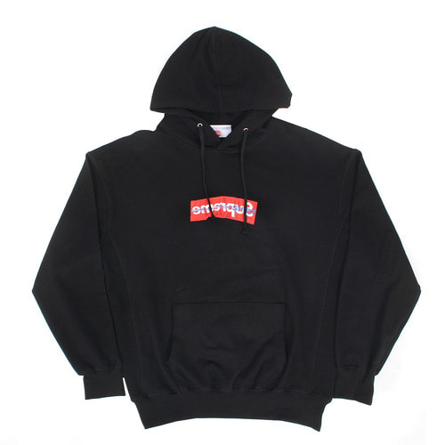 Logo Printing Big Pocket Loose Fit Boxy Hoodie
