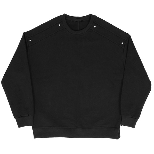 Loose Fit Rivet Shoulder Styling Boxy Sweatshirt 002