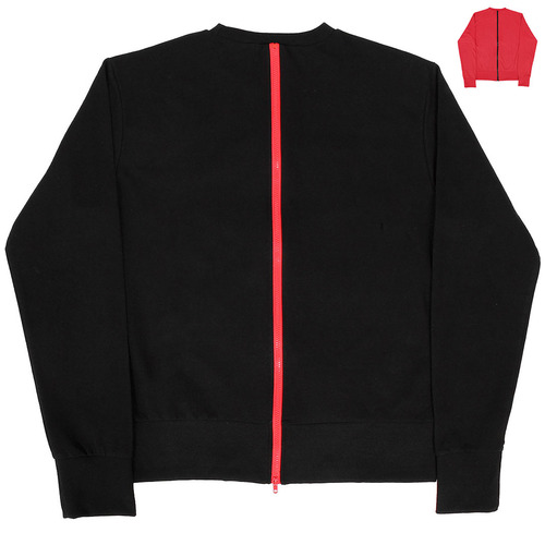 Loose Fit Back Zipper Zip Up Sweatshirt 011