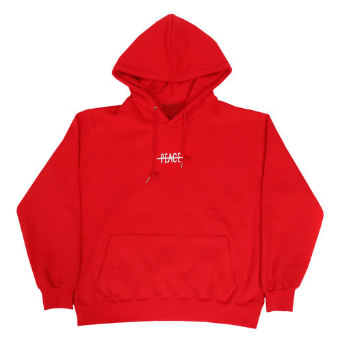 Peace Logo Printing Big Pocket Boxy Hoodie