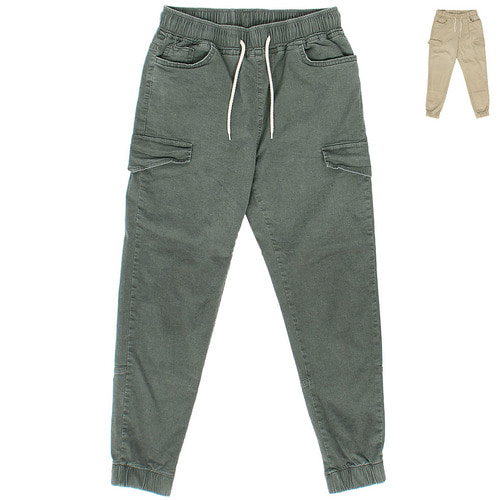 Vintage Fake Cargo Pocket Elastic Band Joggers 019