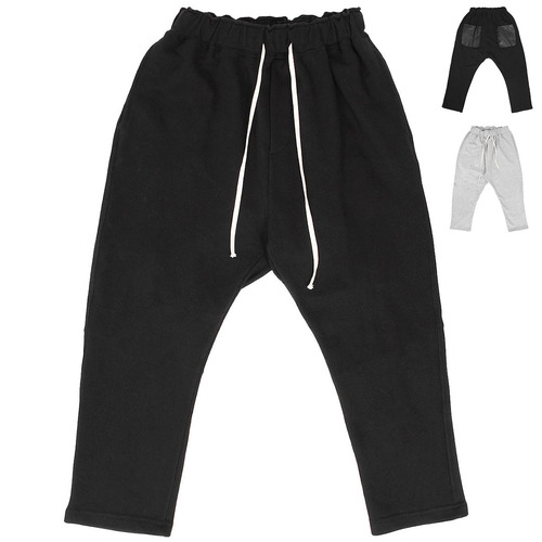 Low Crotch Contrast Back Pocket 4/5 Baggy Sweatpants 020