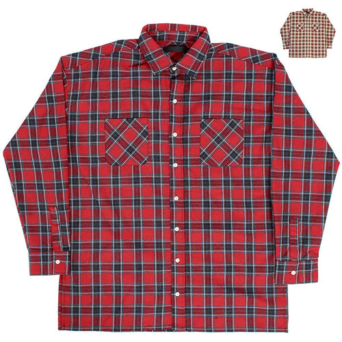 Loose Fit Split Side Checkered Boxy Shirt 004