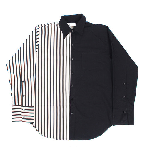 men's shirt, Stripe Over Boxy Shir