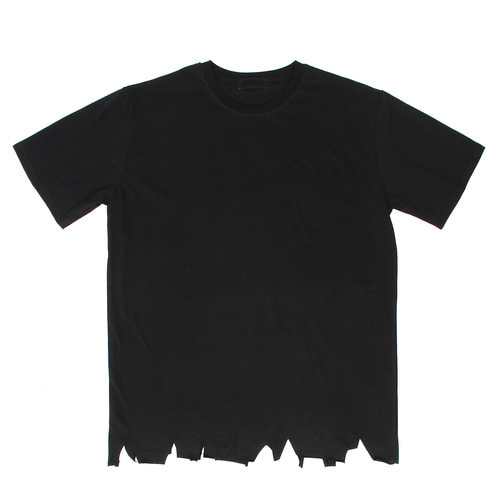 Vintage Damaged Hem Loose Fit Short Sleeve Tee