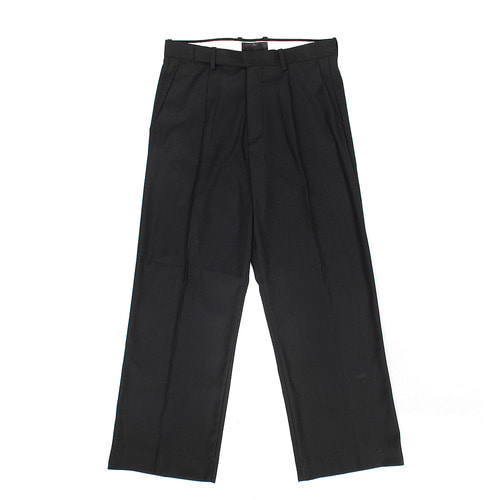 Loose Fit Pleated Wide Slacks Pants 007