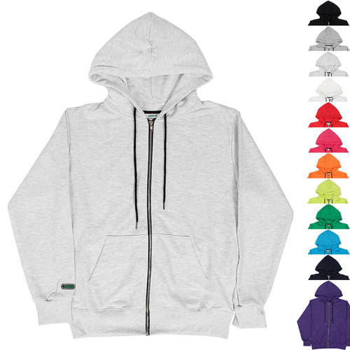 Loose Fit 12 Color Zip Up Hoodie 008