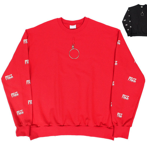 Street Fashion Ring Piece Printing Boxy Sweatshirt 030