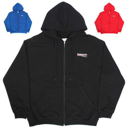 Logo Printing Pocket Color Zip Up Hoodie 010