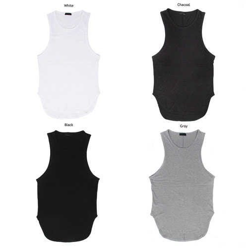 Slim Fit Layered Styling Sleeveless Tank