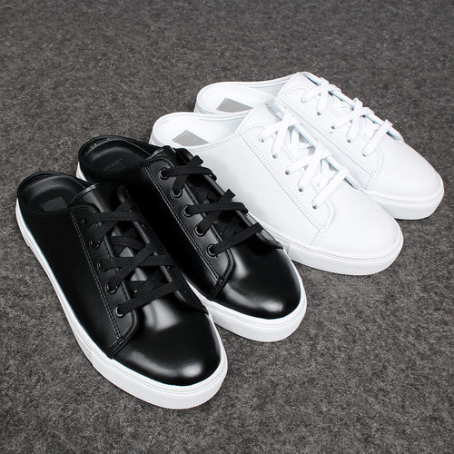 Basic Lace Up Sleeper Type Sneakers 007