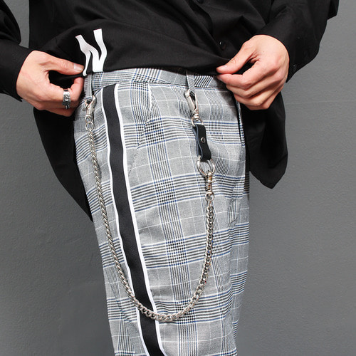 Jeans Pants 2 Step Key Ring Linked Surgical Steel Chain