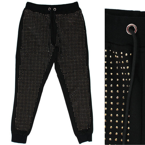 Unique Fashion Gold Studs Joggers 057
