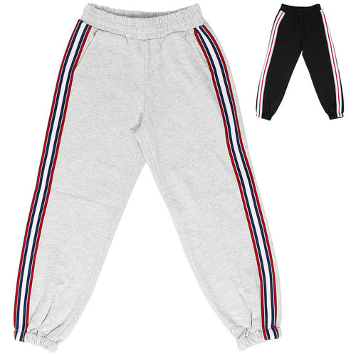 Street Fashion Side Line Waistband Jogger Pants 061