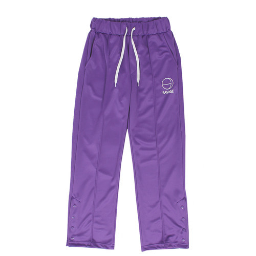 Snap Button Up Split Hem Jersey Track Pants 059