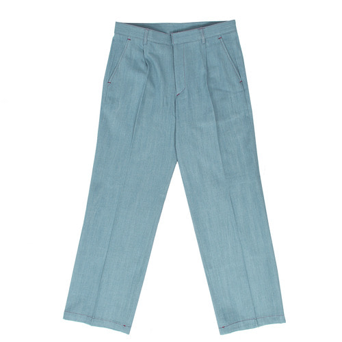 Loose Fit Wide Denim Slacks Pants