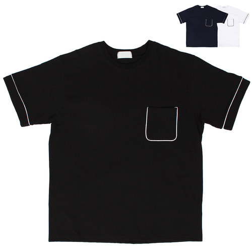 Pocket Line Trimming Standard Short Sleeve Tee 168