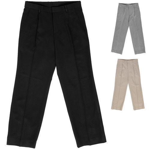 Loose Fit Pleated Wide Slacks Pants 019
