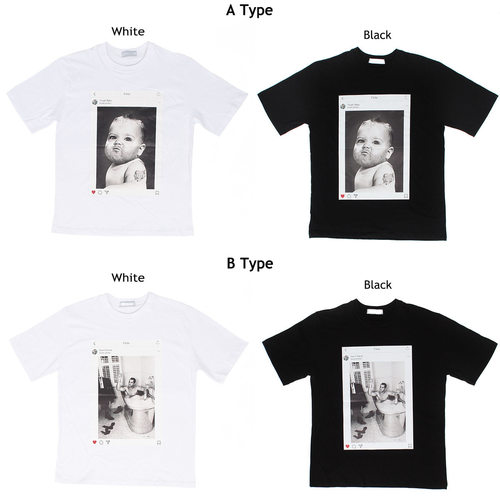 Instagram Graphic Printing Short Sleeve Tee