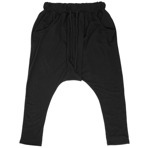 Avant garde Drop Crotch Layered Front Baggy Sweatpants 070