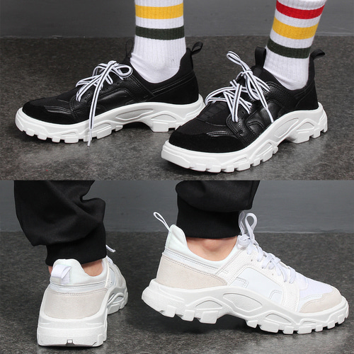 Mesh Neoprene Suede Leather Runner Sneakers