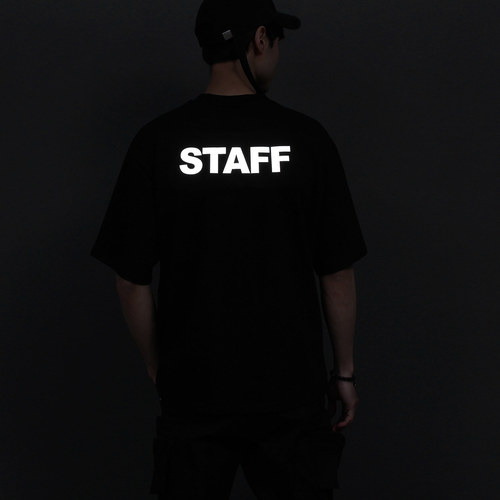 Reflective Graphic Logo Printing Short Sleeve tee