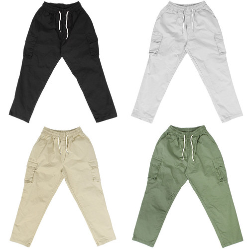 Semi Baggy Wide Cargo Pocket Waistband Pants 072