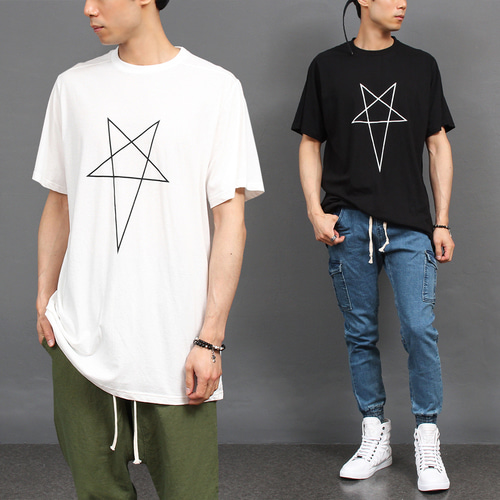 Star Graphic Printing Short Sleeve Tee