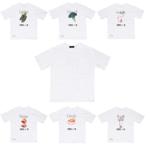 Loose Fit Food Graphic Printing Short Sleeve Tee 214