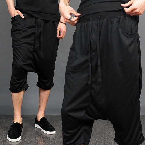 Drop Crotch 3/4 Harem Baggy Short Sweatpants 015