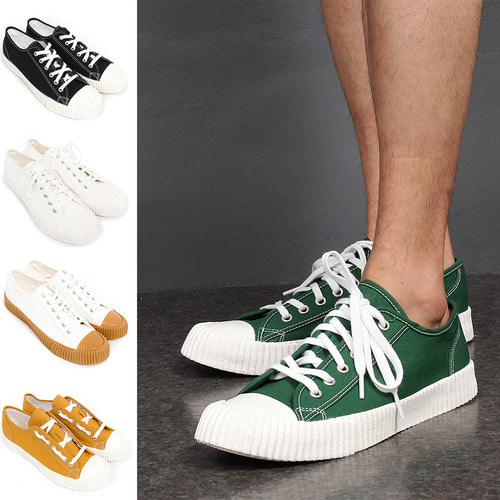 Color Canvas Lace Up Sneakers 011